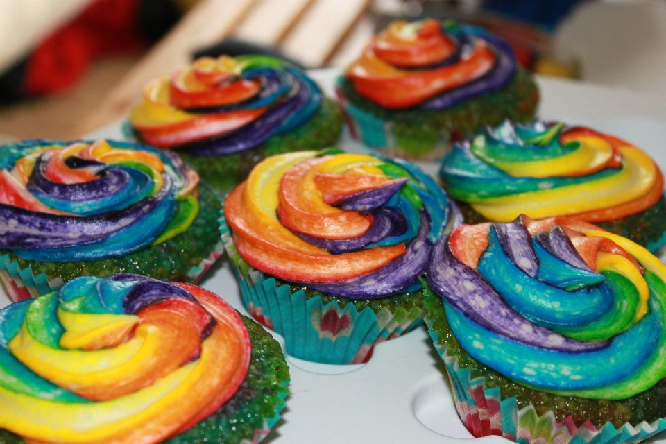 Double Rainbow Cupcakes Recipes — Dishmaps