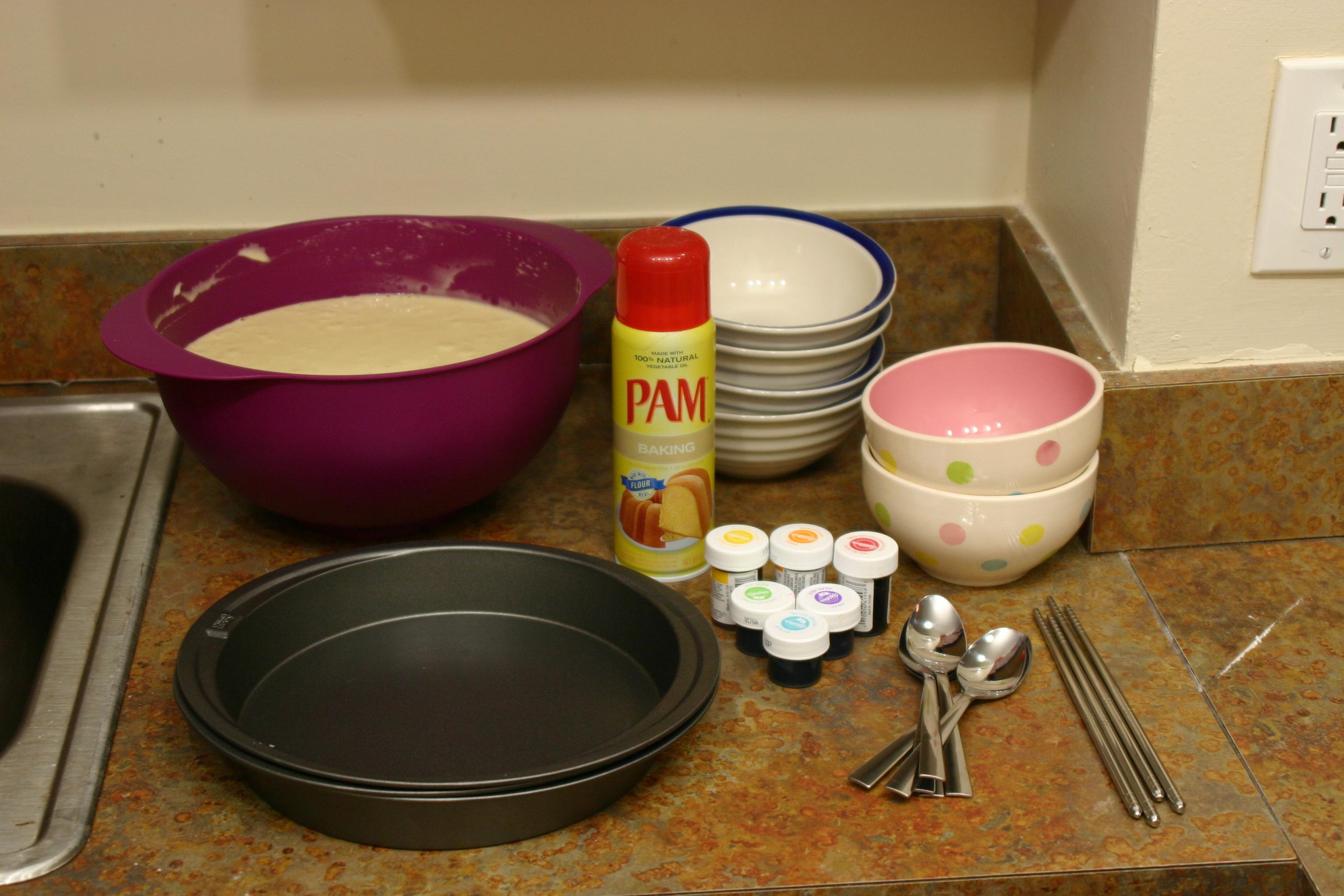 Six Layer Rainbow Cake Pie With Sparkles