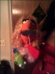 Even puppets love mustaches!