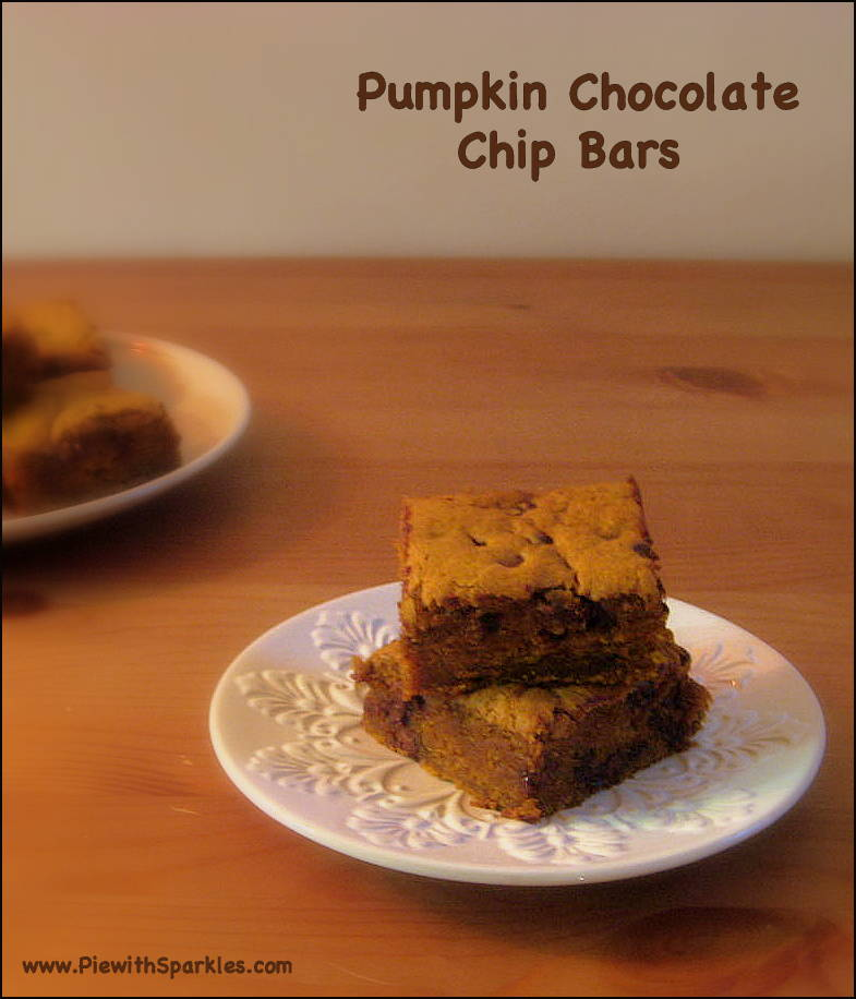 Pumpkin Chocolate Chip Bars | Pie With Sparkles