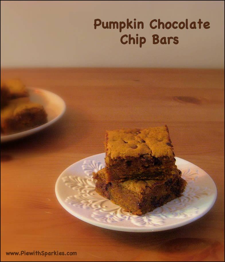 Pumpkin Chocolate Chip Bars Recipe — Dishmaps