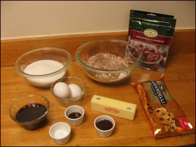 Chocolate-covered cherry cookie ingredients
