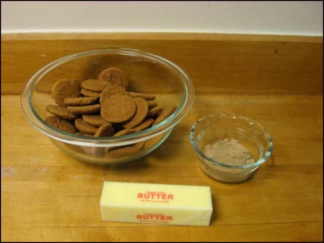 Gingersnap crust ingredients
