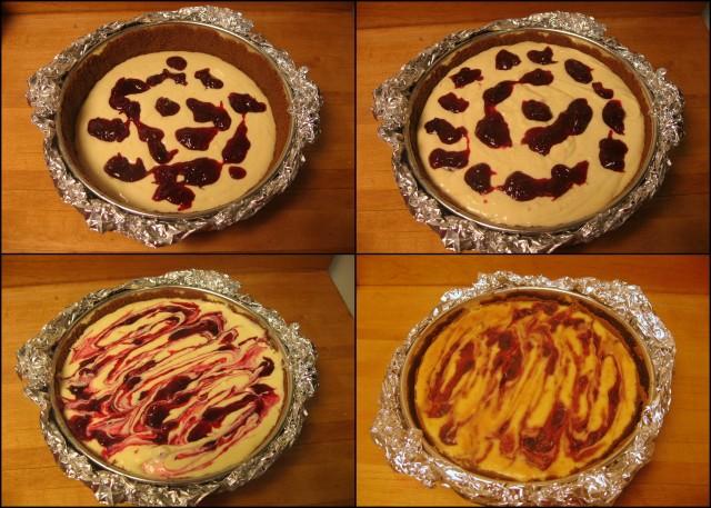 Prepare and bake cheesecake