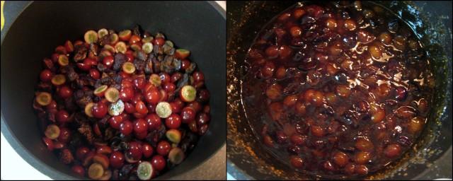 Cook fig & grape filling