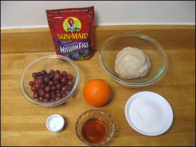 Fig & grape tart ingredients