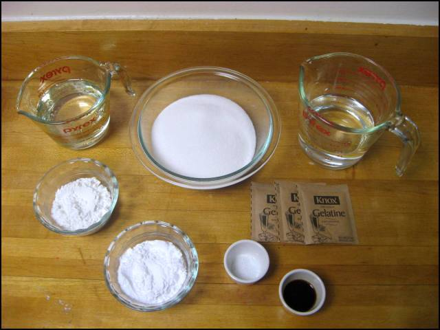 Marshmallow ingredients