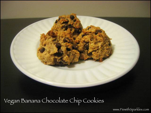 Vegan Banana Chocolate-Chip Cookies