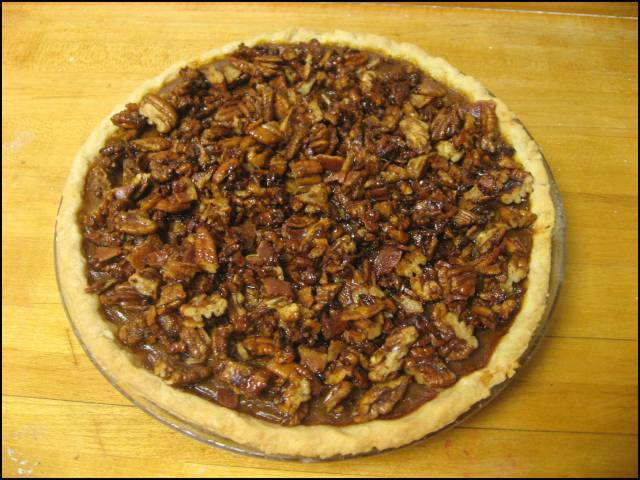 Add candied pecans & bacon