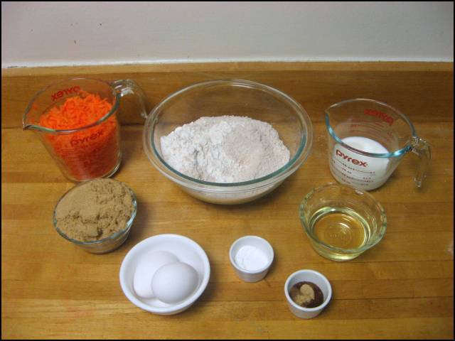 Carrot raisin muffin ingredients
